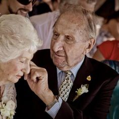 What a touching wedding photo of the bride's grandparents! Melissa Jean Photography.