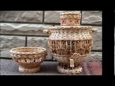 Wonderful crafts from newspaper tubes - YouTube