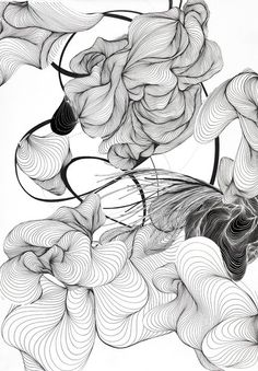 Искусство ardezart line art в 2019 г. arte abstracto, dibujo con lineas и c Abstract Pencil Drawings, Abstract Lines, Art Drawings, Abstract Art, Art Inspo, L Wallpaper, Art Du Collage, Illustration Vector, Grafik Design