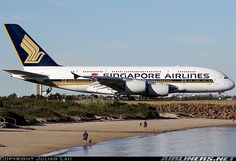 SIA Airbus A380-841. STAGGERING.