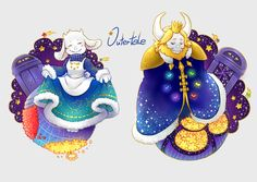 Toriel and Asgore | Outertale