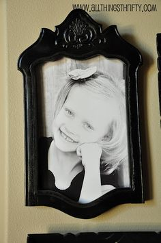 This is from the 50 Repurposed Project Ideas--a picture frame made from a chair back! Love, love, love this!