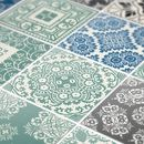Adhesivos para azulejos - Vinilo Pegatina Azulejos para Cocina Azul Pastel - hecho a mano por Wall-Decals en DaWanda