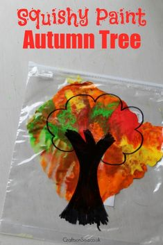 Mess Free Autumn Tree Craft - Crafts on Sea This mess free autumn tree craft is perfect for teaching about colour mixing and is a fun sensory autumn craft too! Get our tips for this fun activity. Kids Crafts, Fall Crafts For Toddlers, Tree Crafts, Baby Crafts, Toddler Crafts, Preschool Crafts, Toddler Activities, Fun Activities, Autumn Activities For Babies