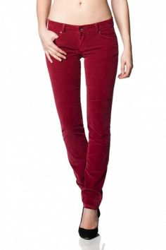 Salsa red velvet jeans
