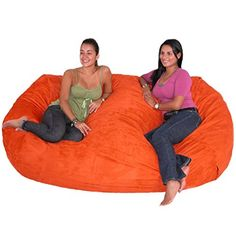Cozy Sack 7 Feet Bean Bag Chair X Large Pumpkin