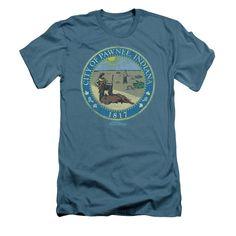 Parks & Recreation - Distressed Pawnee Seal Adult Slim Fit T-Shirt