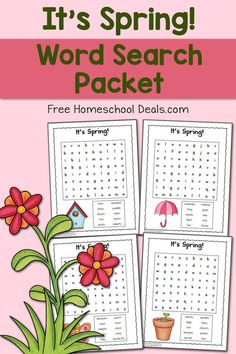 FREE SPRING WORD SEARCH PACKET (Instant Download!)