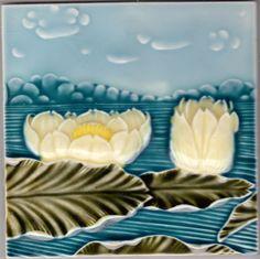 Rare originale Jugendstil Fliese art nouveau tile tegel Deutschland