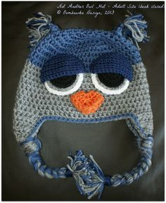 INSPIRATION-LOVE THE FACE!       Not+ANOTHER+Owl+Hat+Crochet+Pattern.++Child+to+by+OombawkaDesign,+$4.25