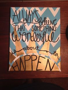 Positive canvas quote by APassionforPainting on Etsy