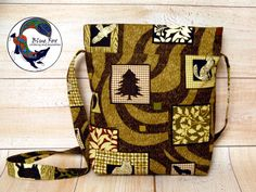 Green easy handy bag, khaki cotton bag, animal bag Forest bag