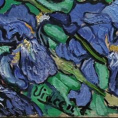 "Detail from ""Irises"" by Vincent van Gogh, 1889. Oil on canvas. (J. Paul Getty Museum, Los Angeles) RP"