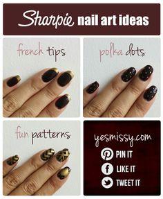 Sharpie Nail Art Design Tutorial & Tips - Read more!