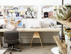 inspiring work spaces by the style files, via Flickr