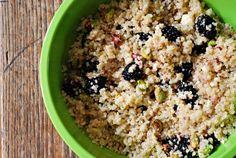 Quinoa, Blackberry, Feta & Pistachio Salad