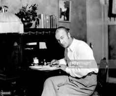 William Boyd (1895 - 1972), one of Cecil B DeMille's stars, at home in Hollywood.