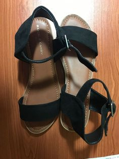 be0c385df0604 WOMENS SANDALS SIZE 9.5 Rock   Candy Black Sandals  fashion  clothing  shoes