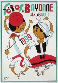 Toutes les affiches des fêtes de Bayonne de 1932 à 2013 Photo