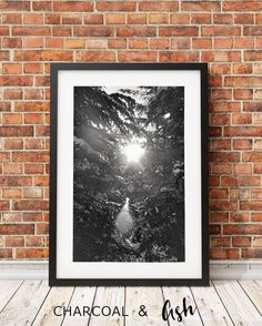 Snoqualmie Pass Snow Scene, Winter Forrest, Trees, Landscape, Black and White Photography, Rustic Decor, Northwest, // Frame NOT INCLUDED