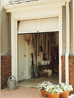1000 images about exterior ideas on pinterest fixer for Golf cart garage door