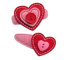 Valentine Hair Clips. Make some without clips! Girlie glue them on!  Stays all day and washes off easily with water!