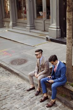 beatboxgoesthump: J. Lindeberg Summer Suits, shot for GQfeaturing Jace and Ryan Style
