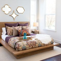 Rustic Reclaimed California Platform Bed Frame