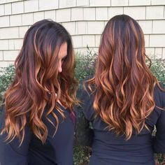 Balayage Blonde Ends - 20 Fabulous Brown Hair with Blonde Highlights Looks to Love - The Trending Hairstyle Brown Ombre Hair, Ombre Hair Color, Brown Hair Colors, Hair Color For Dark Skin Tone, Hair Colour, Fall Hair Color For Brunettes, Ombre For Brunettes, Brunette Color, Dark Brunette