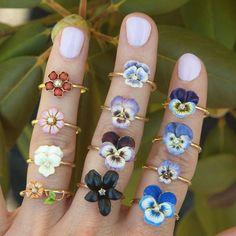 Vintage Enamel Pansy Ring | 14k Gold Pansy Ring | Vintage Stick Pin Ring | Vintage Pansy Ring | Purple Pansy Flower Ring
