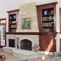 Fireplaces Bookshelves Design, Pictures, Remodel, Decor and Ideas