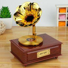 Clássico Caixa de Música Clockwork Tipo Rotativa Caixa de Música Caixa de Música de Gramofone Clássico Nostalgia Retro Artesanato em Caixas de música de Home & Garden no AliExpress.com   Alibaba Group