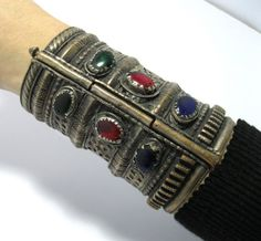 FREE SHIP Vintage Afghan Kuchi Tribal Antique Cuff by CraftEast, $65.00