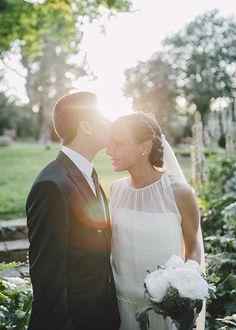 Los novios. Boda romántica y elegante organizada por Detallerie. Bride and groom. Romantic and elegant wedding by Detallerie.