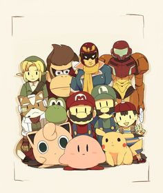 Smash Bros fan art, pixiv