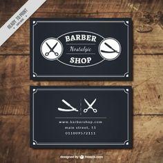 cartes d'atelier de coiffure noire Plus
