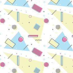 Retro Memphis Pattern Design Art Print by bicone Memphis Pattern, Design Art, Pattern Design, Vector Illustrations, Art Prints, Retro, Pink, Patterns, Art Impressions