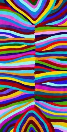 Aboriginal-Art-by-Sally-Clark-76cm-X-143cm on Ebay