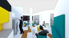 bleuelink - concept interieor design - canteen