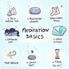 Love this meditation basics list. What's on your meditation list? Wiccan Witch, Wicca Witchcraft, Magick, New Moon Rituals, Full Moon Ritual, Witchcraft For Beginners, Eclectic Witch, Baby Witch, Witch Spell