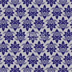 파란색 아시아 꽃 다마스크 패턴. 한국 전통문양 패턴디자인 시리즈. (BPTD020215) Blue Colors Asian flower Damask Pattern. Korean traditional Pattern Design Series. Copyrightⓒ2000-2014 Boians.com designed by Cho Joo Young.