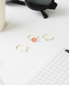 GALAXY TRIO PLANETS| SPACE RINGS | PLANET RINGS | SPACE JEWELRY | GALAXY JEWELRY | SNF | SOMETHING NEW FASHION