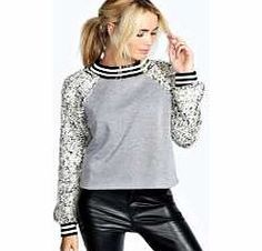 boohoo Hope Fluffy Knit Sleeve Ribbed Sweatshirt - grey Layer up the sporty way in this super soft sweatshirt with fashion-forward fluffy sleeves. Dress it up with wet look trousers , barely-there nude heels and a sequin clutch bag . http://www.comparestoreprices.co.uk/womens-clothes/boohoo-hope-fluffy-knit-sleeve-ribbed-sweatshirt--grey.asp