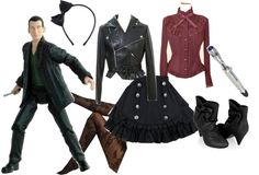 """""""Doctor Who Lolita: Ninth Doctor"""" by meiki ❤ so cute i have to get this outfit"""