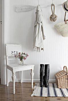 idées de décoration bord de mer cottage anglais pour l'entrée de la maison