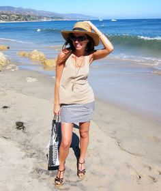 Gitane Tassel Necklace with Beach outfit