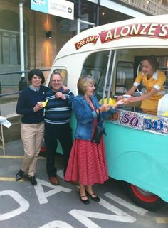 Thanks to Guilian Alonzi and the Harbour Bar for their vintage ice-cream van and the most AMAZING award winning ice-cream