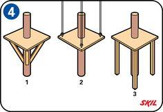 Bygg en trädkoja - Stöttning av trädkojan