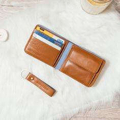 Men wallet with coin pocket caramel Wallet With Coin Pocket, Swiss Design, Christmas Gifts For Him, Man Set, Calf Leather, Calves, Caramel, Gift Ideas, Accessories