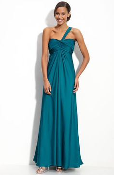 ML Monique Lhuillier One Shoulder Gown (Nordstrom Exclusive)